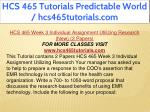 hcs 465 tutorials predictable world 13