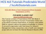 hcs 465 tutorials predictable world 18