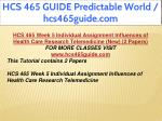 hcs 465 guide predictable world hcs465guide com 19