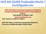 hcs 465 guide predictable world hcs465guide com 9