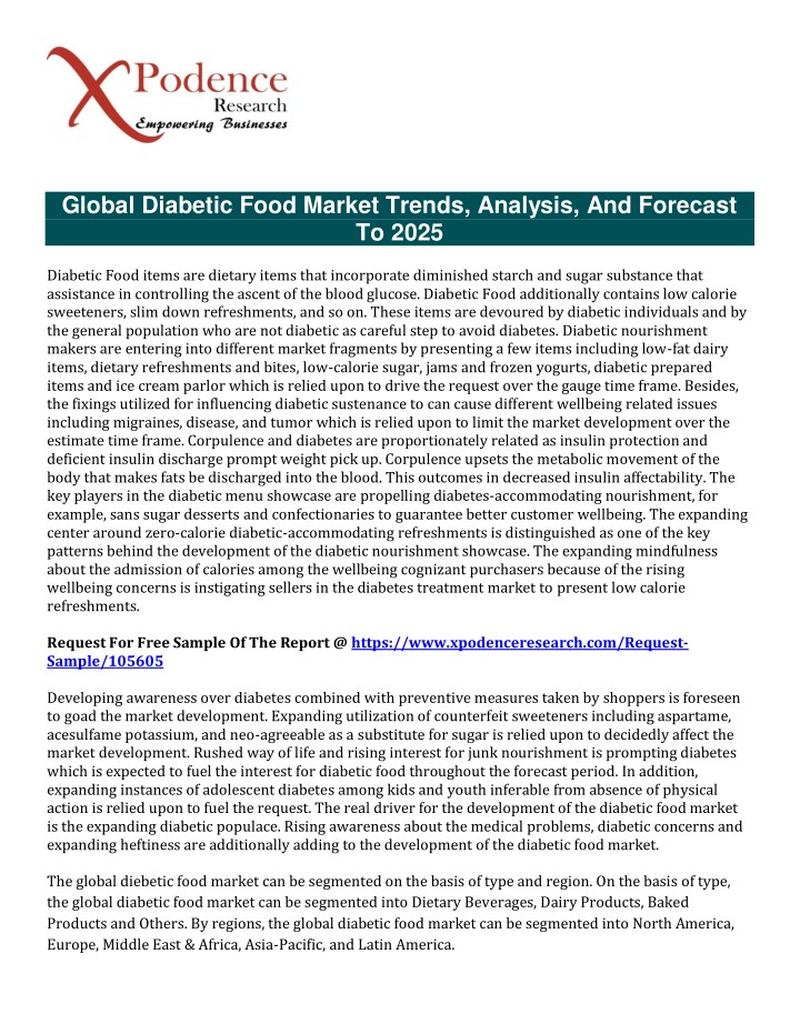 global diabetic food market trends analysis n.