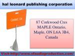 hal leonard publishing corporation