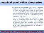 musical production companies