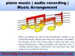 piano music audio recording music arrangement