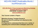 hcs 490 mart predictable world hcs490mart com 12