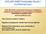 hcs 490 mart predictable world hcs490mart com 15