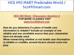 hcs 490 mart predictable world hcs490mart com 3
