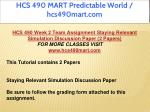 hcs 490 mart predictable world hcs490mart com 8