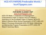 hcs 475 papers predictable world hcs475papers com 1