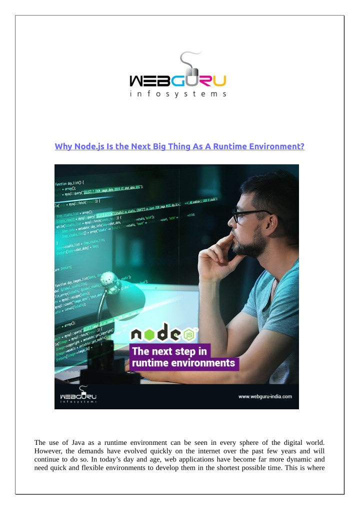 why node js is the next big thing as a runtime n.