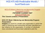 hcs 475 aid predictable world hcs475aid com 20