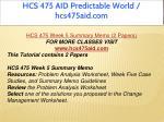hcs 475 aid predictable world hcs475aid com 21