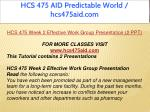hcs 475 aid predictable world hcs475aid com 8
