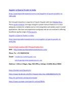 supplier of quartz powder in india