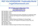 mgt 426 homework predictable world mgt426homework 1