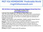 mgt 426 homework predictable world mgt426homework 11