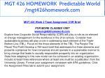 mgt 426 homework predictable world mgt426homework 12