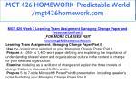 mgt 426 homework predictable world mgt426homework 16