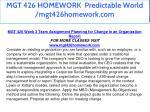 mgt 426 homework predictable world mgt426homework 18