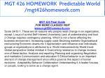mgt 426 homework predictable world mgt426homework 2