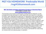 mgt 426 homework predictable world mgt426homework 22