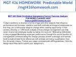 mgt 426 homework predictable world mgt426homework 26
