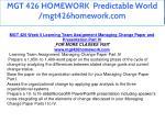 mgt 426 homework predictable world mgt426homework 28