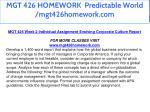 mgt 426 homework predictable world mgt426homework 9