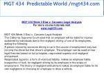 mgt 434 predictable world mgt434 com 15