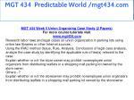 mgt 434 predictable world mgt434 com 27
