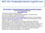 mgt 434 predictable world mgt434 com 9