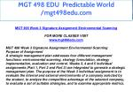 mgt 498 edu predictable world mgt498edu com 18