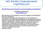 mgt 498 edu predictable world mgt498edu com 24