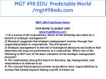 mgt 498 edu predictable world mgt498edu com 3