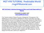 mgt 498 tutorial predictable world mgt498tutorial 13