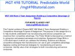 mgt 498 tutorial predictable world mgt498tutorial 14