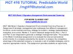 mgt 498 tutorial predictable world mgt498tutorial 19