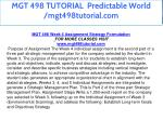 mgt 498 tutorial predictable world mgt498tutorial 20