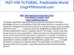 mgt 498 tutorial predictable world mgt498tutorial 3