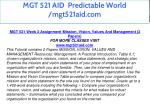 mgt 521 aid predictable world mgt521aid com 11