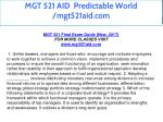 mgt 521 aid predictable world mgt521aid com 3