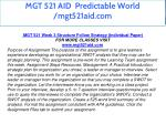 mgt 521 aid predictable world mgt521aid com 30
