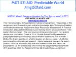 mgt 521 aid predictable world mgt521aid com 40