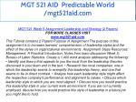 mgt 521 aid predictable world mgt521aid com 41