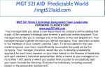 mgt 521 aid predictable world mgt521aid com 47