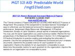 mgt 521 aid predictable world mgt521aid com 51