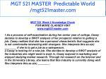 mgt 521 master predictable world mgt521master com 18