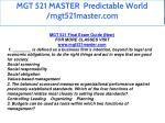 mgt 521 master predictable world mgt521master com 2