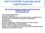 mgt 521 master predictable world mgt521master com 41