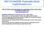 mgt 521 master predictable world mgt521master com 46